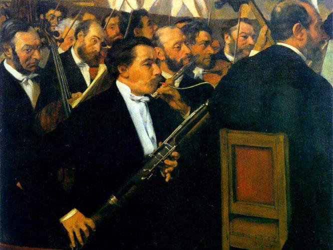 Edgar Degas Orkestra tablosu