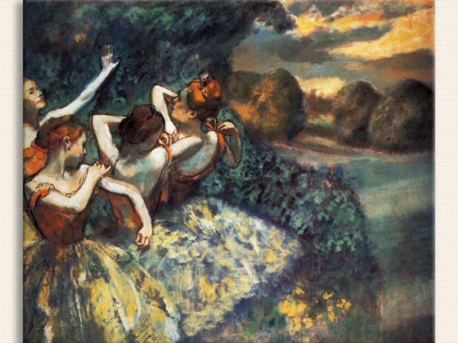 Edgar Degas Dört Balerin tablosu