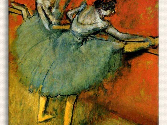Edgar Degas Barda Balerinler tablosu