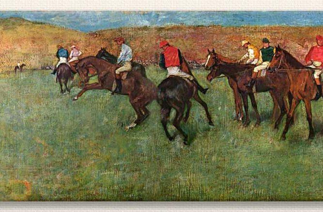 Edgar Degas Yarışcıların Start Hazırlığı