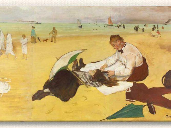 Edgar Degas Plaj Manzarası tablosu