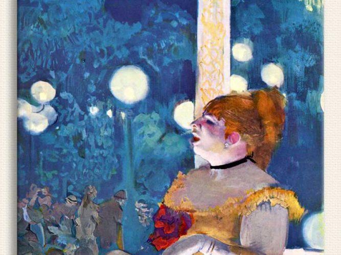 Edgar Degas Konserde Köpeğin Şarkısı
