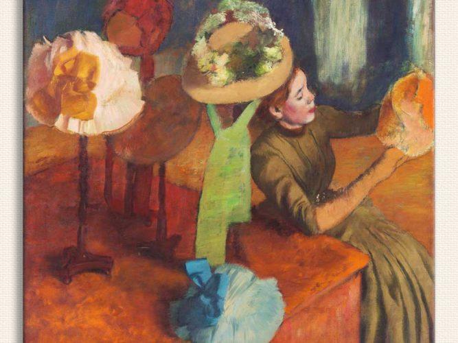 Edgar Degas şapka imalatçısında