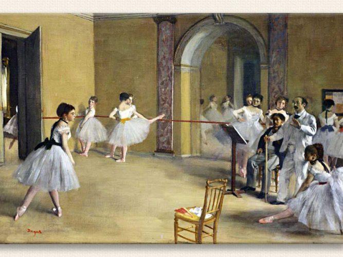 Edgar Degas Peletier Caddesinde Bale Salonu