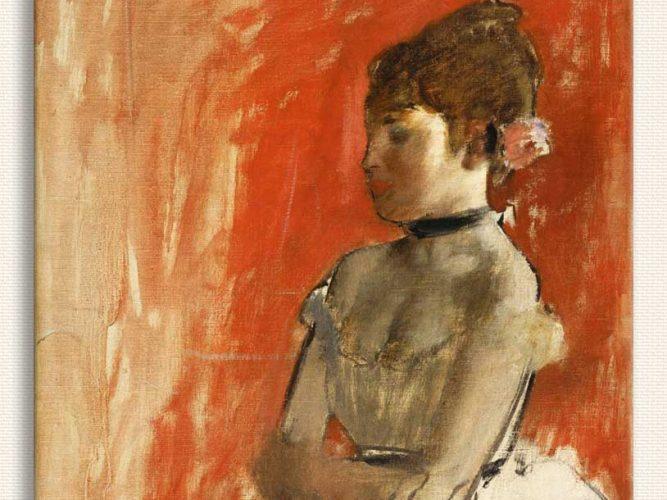 Edgar Degas Balerin Pozu tablosu