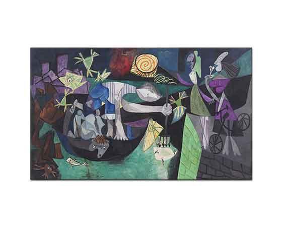 Pablo Picasso Antibes'te Gece Balık Avı