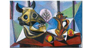 Pablo Picasso Boğa Kafatası ve Meyveler