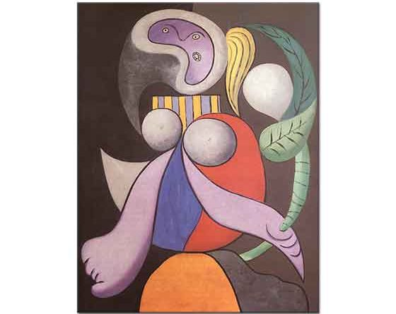 Pablo Picasso Çiçekli Kadın