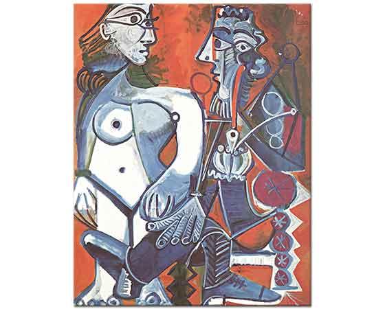 Pablo Picasso Çıplak ile Sigara içen