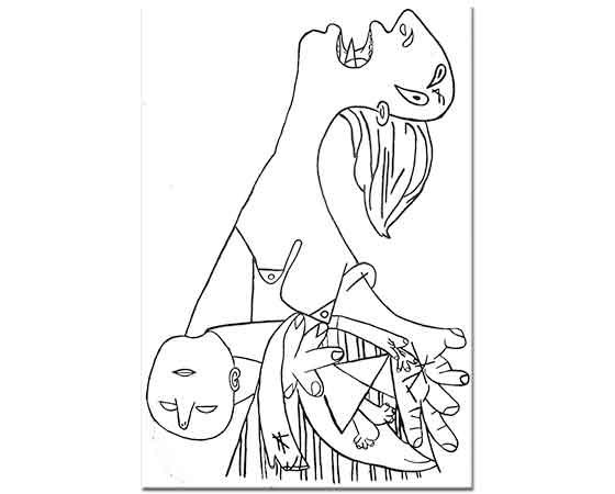 Pablo Picasso Guernica Etüd