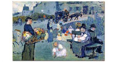 Pablo Picasso Parkta Çiçekçi
