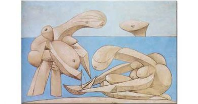 Pablo Picasso Sahilde Oyuncak Sandal ile