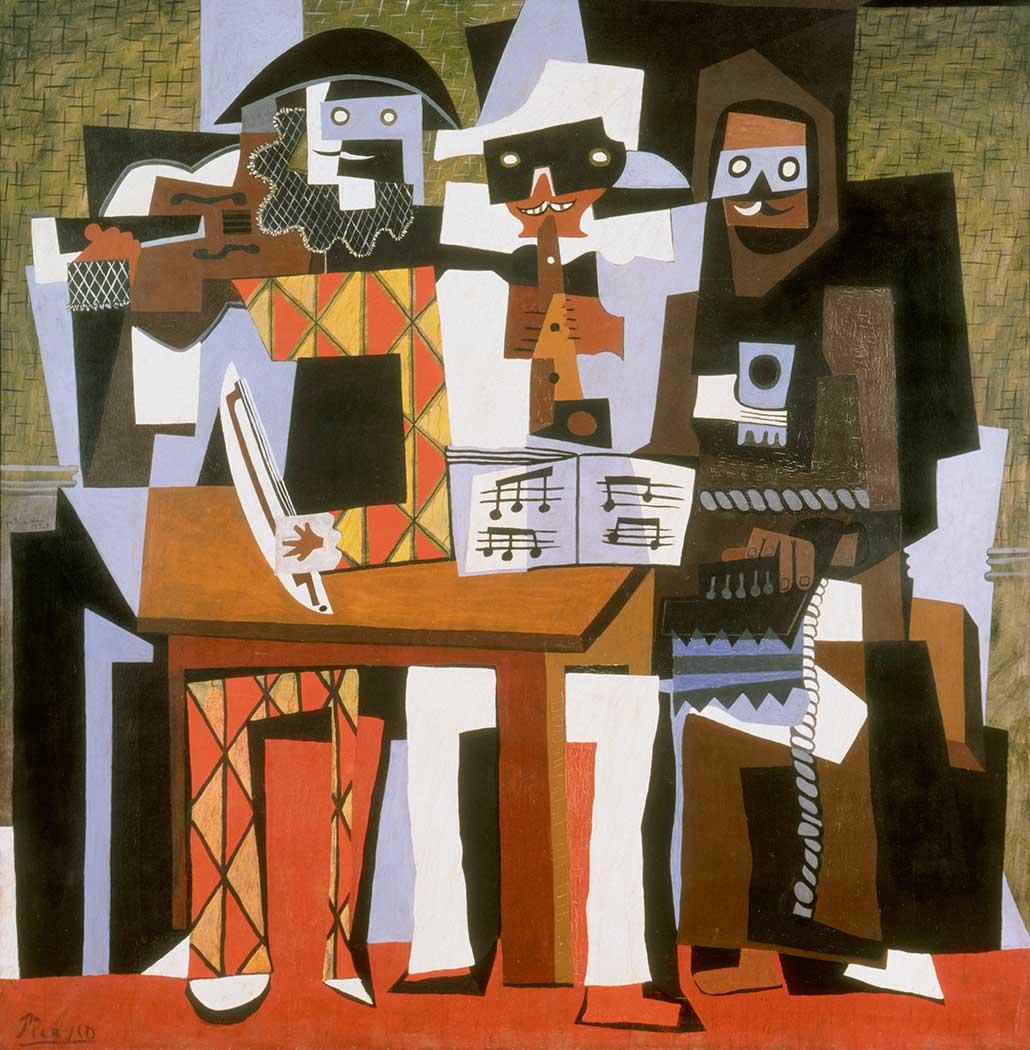 Pablo Picasso Üç Müzisyen II