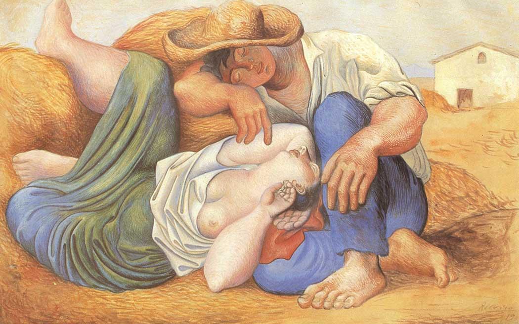 Pablo Picasso Uyuyan Çiftçiler
