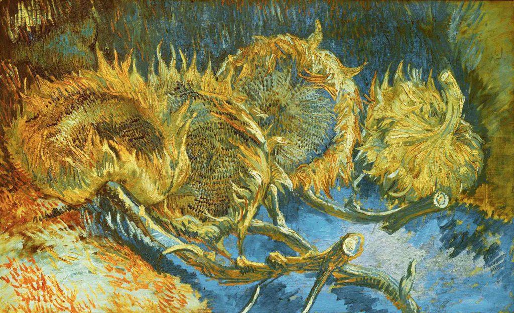 Vincent Willem van Gogh Dört adet Ayçiçekli Natürmort