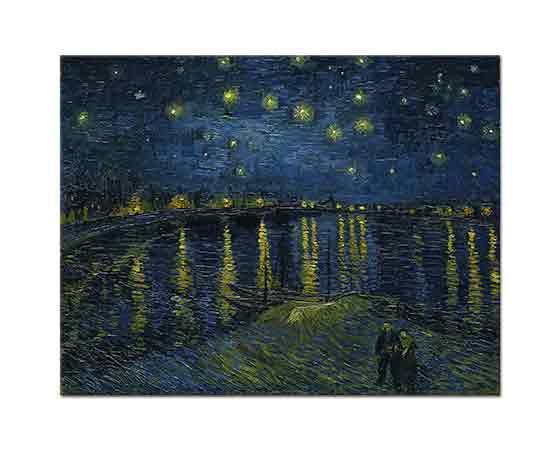 Vincent Willem van Gogh Yıldızlı Gecede Rhone Nehri