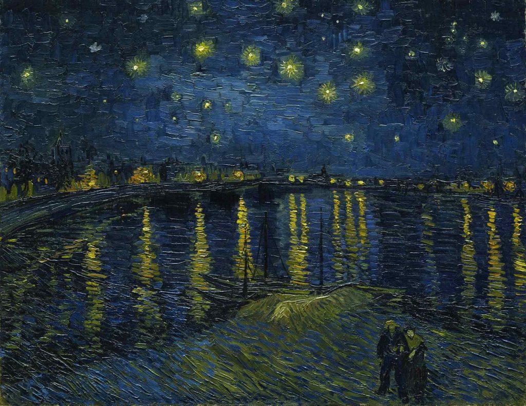 Vincent van Gogh Yıldızlı Gecede Rhone Nehri