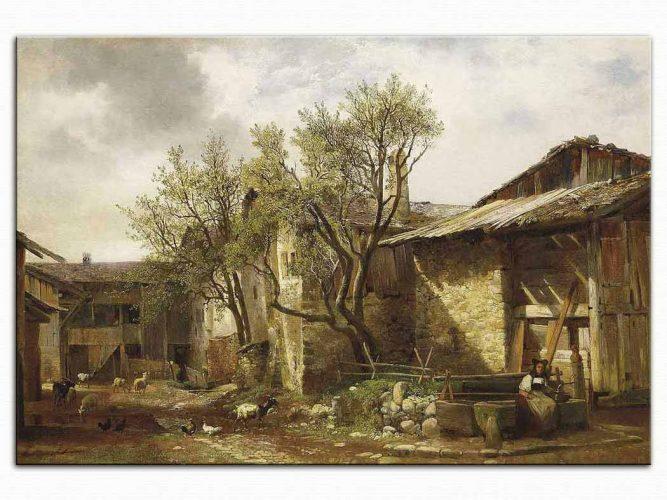 Alexander Calame Köy Yeri ve Hayvanlar