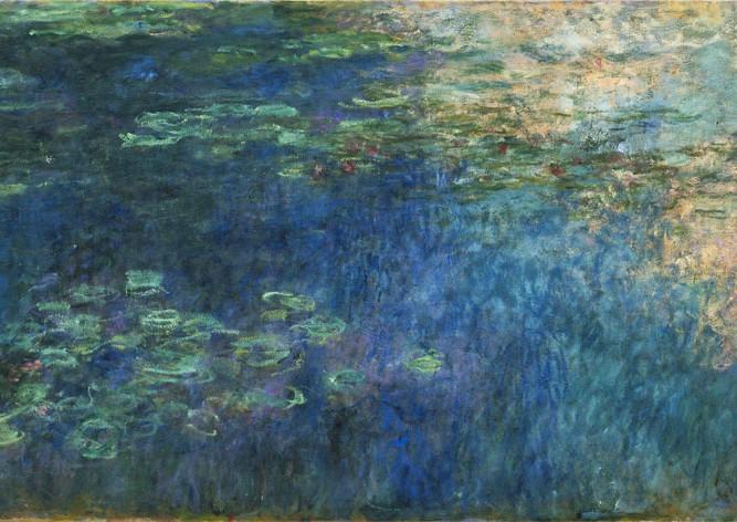 Claude Monet Suda Bulut Yansımaları