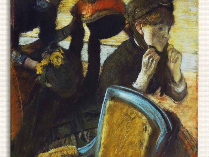 Edgar Degas Şapkacıda tablosu