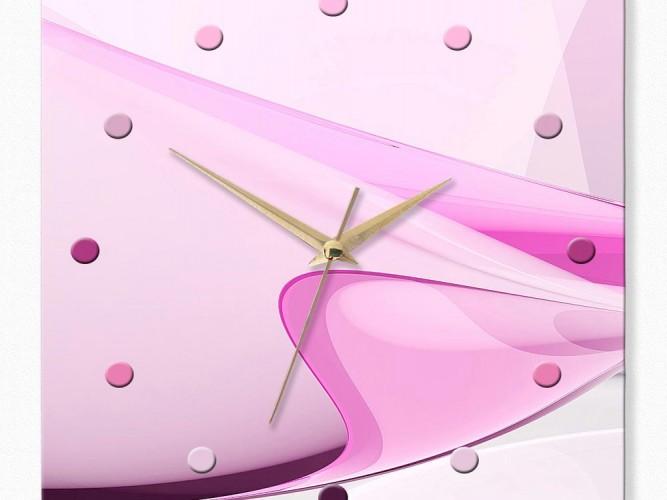 Pembe Kıvrımlar Özel Tasarım Duvar Saati