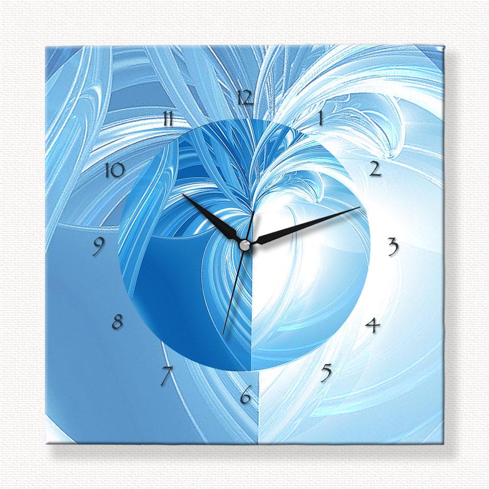 Soyut Mavi Kompozisyon Özel Tasarım Duvar Saati