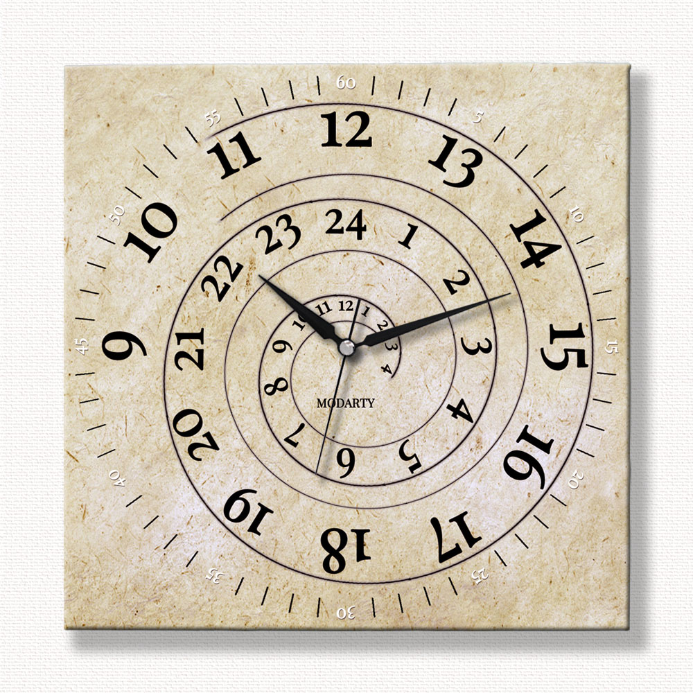24 Saatlik Özel Tasarım Duvar Saati