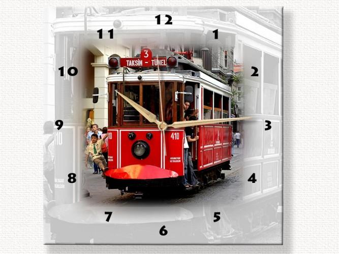 Nostaljik Tramvay Özel Tasarım Duvar Saati