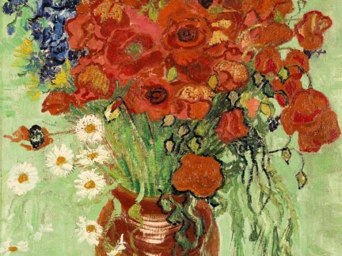 Vincent Willem van Gogh Vazoda Gelincik ve Papatyalar