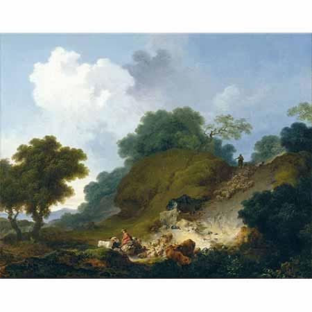 Jean Honore Fragonard Koyun Sürüsü ile