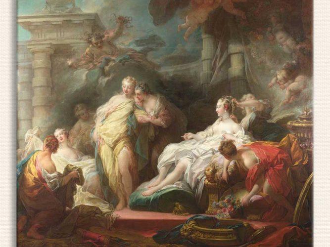 Jean Honore Fragonard Diana tablosu