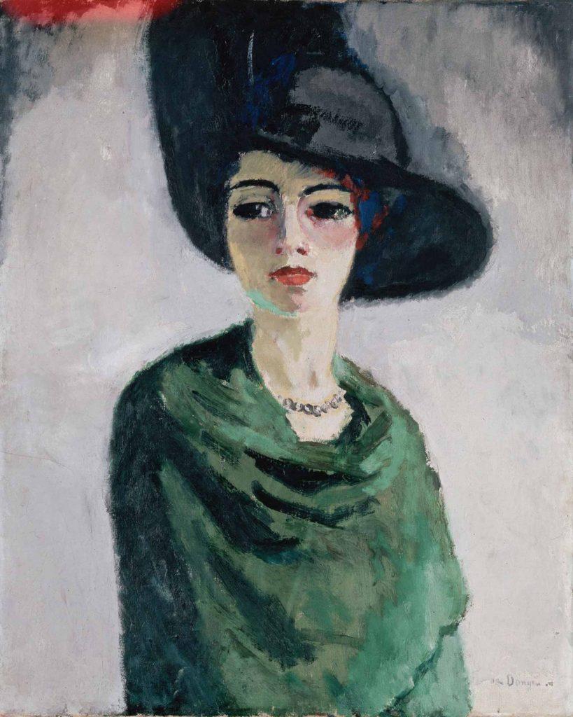 Kees van Dongen Siyah Şapkalı Kadın