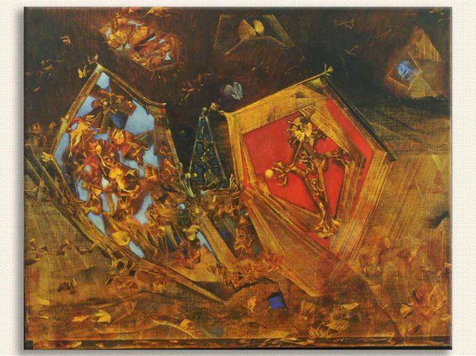 Max Ernst Dünya Bir Masaldır tablosu