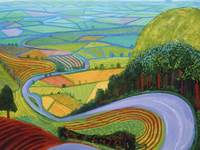 David Hockney Yol tablosu