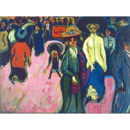 Ernst Ludwig Kirchner Dresden'de Sokak