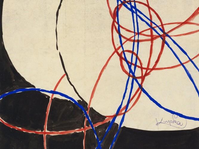 Frantisek Kupka iki renk arasında füg