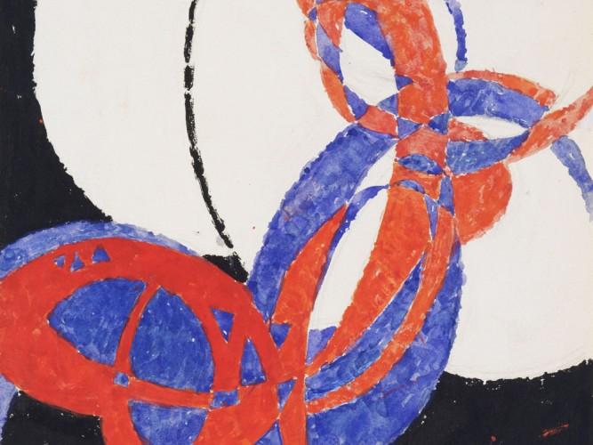 Frantisek Kupka iki renk arasında füg replicası