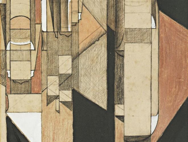 Juan Gris Bardak ve şişeli Kompozisyon