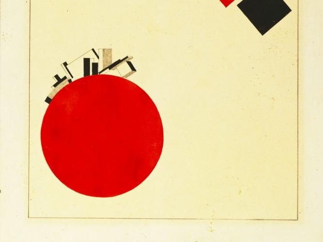 El Lissitzky iki daire kitabı için etüd