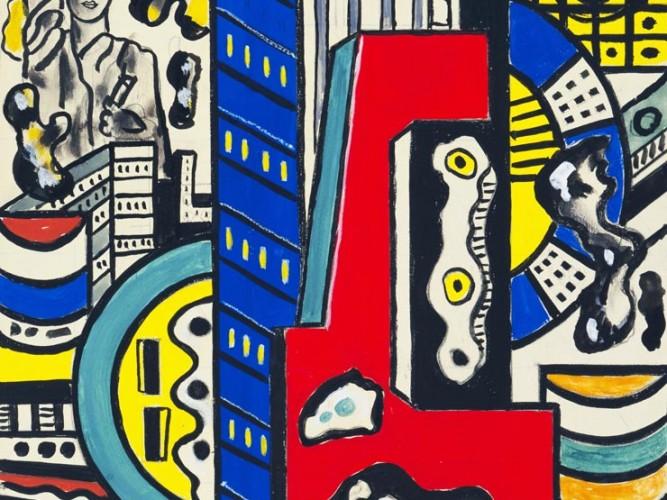 Fernand Leger Sinematik Duvar Etüdü 03