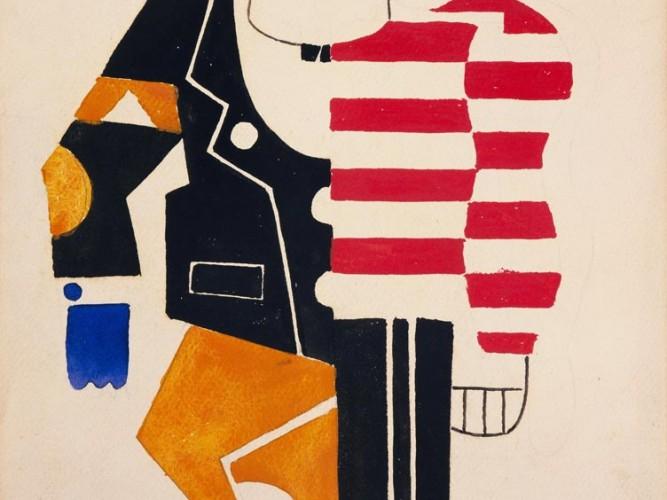 Fernand Leger Balet Suedois için Kostüm