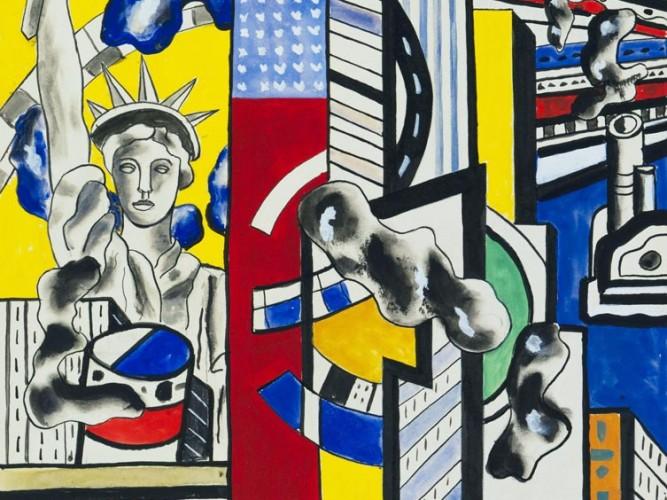 Fernand Leger Sinematik Duvar Etüdü 02