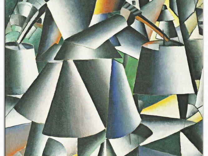 Kazimir Malevich Kova Taşıyan Kadın