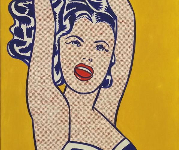 Roy Lichtenstein Top ile Oynayan Kız