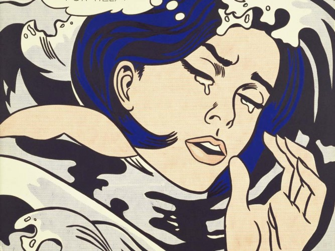 Roy Lichtenstein Boğulan Kız