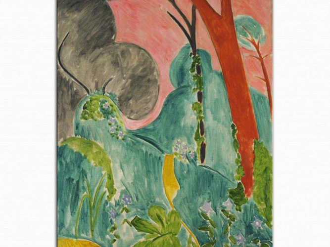 Henri Matisse Menekşeli Fas Bahçesi