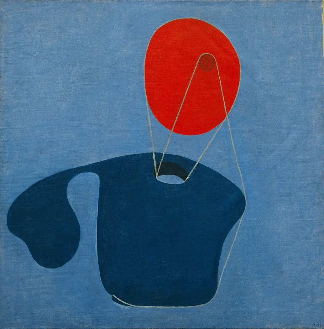 Meret Oppenheim Kırmızı Kafa Mavi Vücut