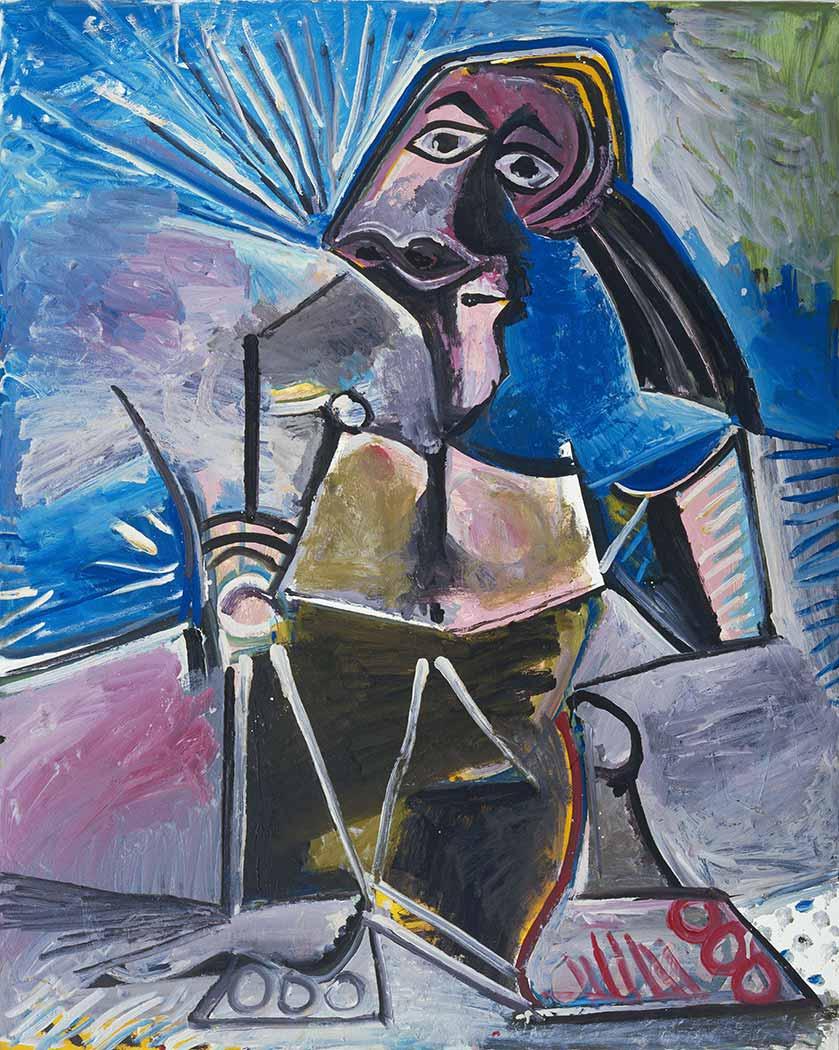 Pablo Picasso Çalışırken