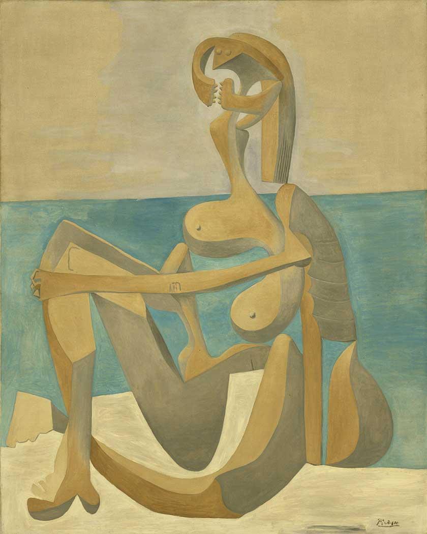 Pablo Picasso Deniz Kenarında Oturan