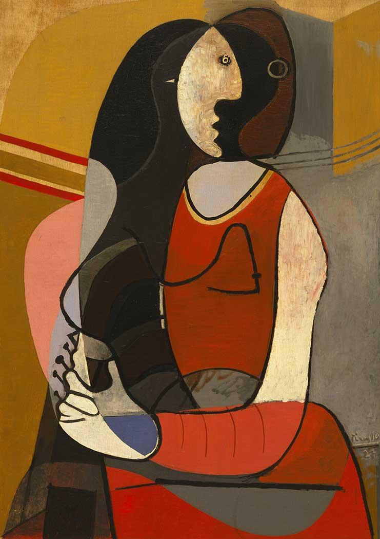 Pablo Picasso Oturan Kadın